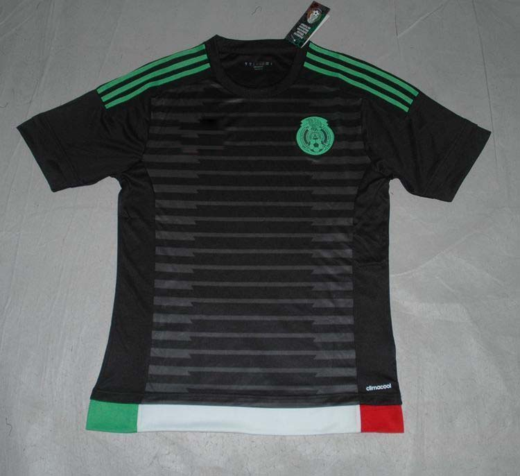 Mexico 2015 black soccer jersey