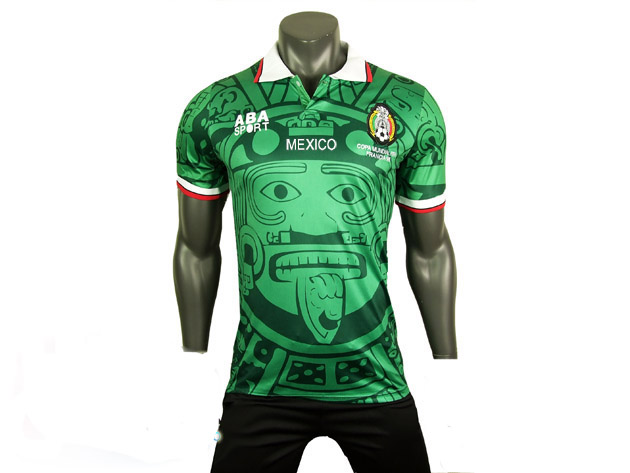 mexico 1998 retro world cup soccer jersey